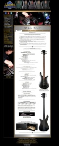 Feature showing Omer and his guitar of choice on Spector Bass website.