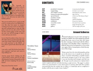 "MIPP December 2012 newsletter - credit page. I got ""special feature"". Yay!"