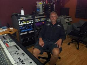 "Steve relaxing in his home studio. He and John are now working on arado's second album entitled ""Spaghettified in the Labyrinth"""