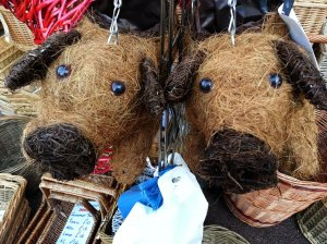 Double trouble - hanging piggies garden baskets