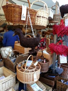 Closer looks at the willow and wicker crafts