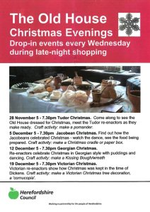 Old House Christmas Evenings advert