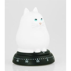The cat timers are also available in white.