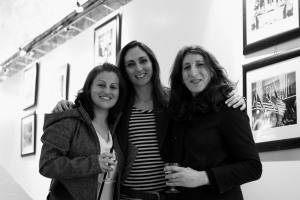 Therese Debono and her friends posing at the opening of the exhibition
