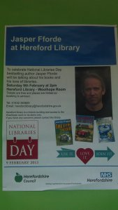 National Libraries Day poster displayed in the exhibition window