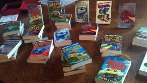 Jasper Fforde's book stand