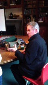 Jasper Fforde also found the time to answer questions from the fans while signing the books