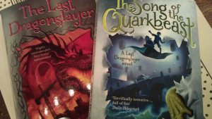 Two books released so far in the Dragonslayer trilogy
