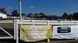 Behind the fence of the Race Course in Hereford. Unfortunately, it's being turned into building project now