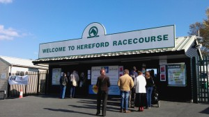 The entrance to Hereford Race Course