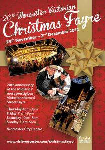 Worcester Victorian Market leaflet distributed during the festivities