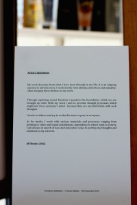 Ali statement during the exhibition