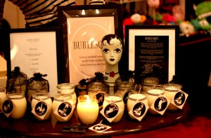 A very burlesque stall of  Burlesque candles