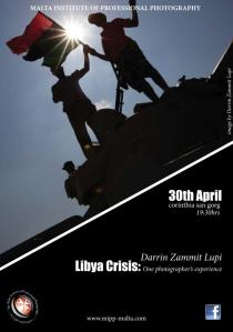 Flyer for Darrin Zammit - Lupi talk about Libyan conflict