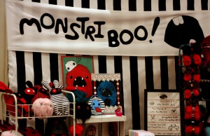 Monstrii Boo stand at the market