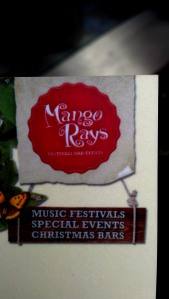 Mango Rays business card at their stand