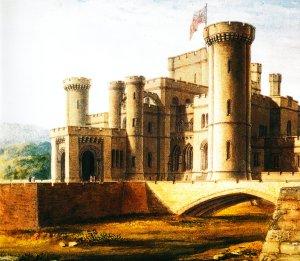 Original aquarelle picture proposed by the designer, Robert Smirke