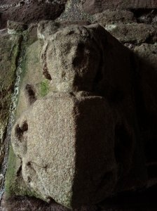 Small decorative stone from the Castle's chapel probably portraying one of the owners or kings