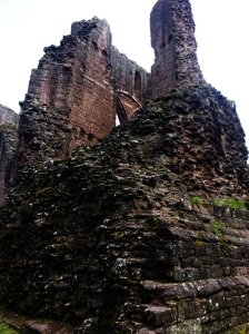 Picture showing walls melted by the Roaring Meg fire