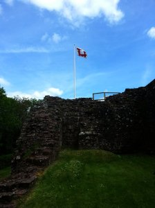 The Flag at the Barbican seen from the inside of the castle