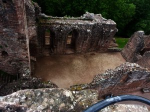 Picture of the castle from the viewing platform at the top of the Keep