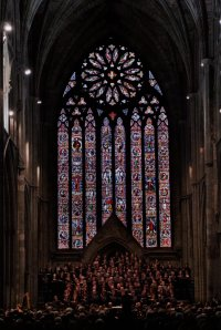 Choirs performing in the Worcester Cathedral - picture kindly provided by the organizers and published in the WIFYS booklet