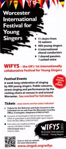 WIFYS Festival leaflet given to Rita by one of the volunteers