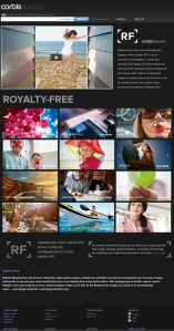 Corbis Royalty Free service page