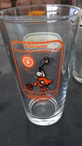 Collectible glass given to the guests at the entry. We gave our away as we had little use for it.