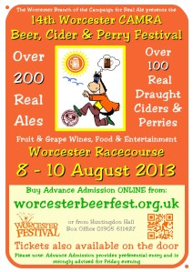 Official poster for the Worcester Beer Festival. You can download the hi-resolution PDF  from here: http://worcesterbeerfest.org.uk/sites/default/downloads/Poster2013.pdf