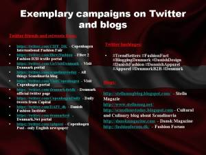 Exemplary campaigns