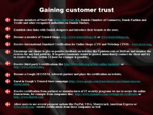 Gaining customer trust