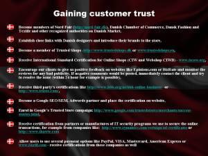 Gaining customer trust