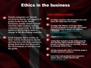 Ethics in the business