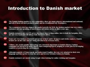 Introduction to Danish Market