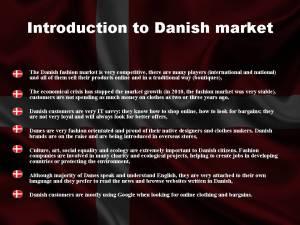 Introduction to Danish Market