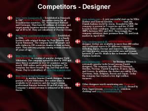 Competitors - designers
