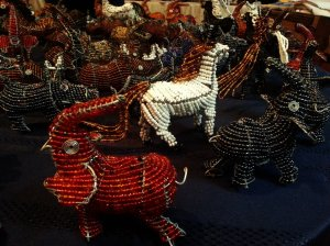 Detailed loook at the Safari decoration from Love Zimbabwe's stand