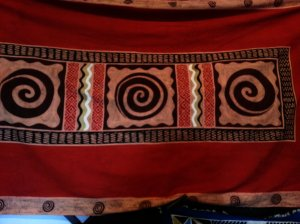 Luxurious batik with traditional Zimbabwean pattern