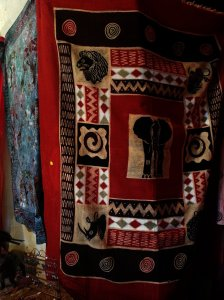 Martha's newest batik clothing with elephant
