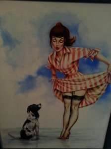 "One of our favourite pictures - pin up entitled ""Wet dog"""