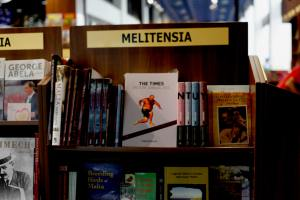 Times Picture Annual displayed at Agenda bookstrore at the Malta International Airport, May 27, 2014
