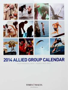 Cover of Allied Newspapers` corporate calendar for 2014