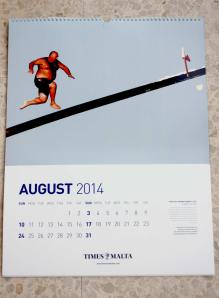 Allied Newspapers` corporate calendar for 2014, August page