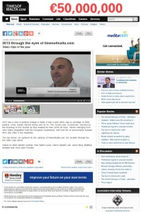Times of Malta - best stories of the year video, December 29, 2013