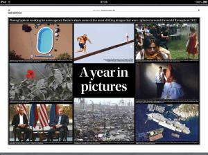 Times of Malta spread showing best images of the year from Reuters, December 5, 2013