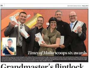 Winning team from Times of Malta newspaper, May 4, 2014