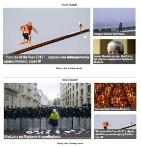Gostra man photo is used as a cover images for Reuters best of 2013, on Gazeta Wyborcza 8-9 December 2013