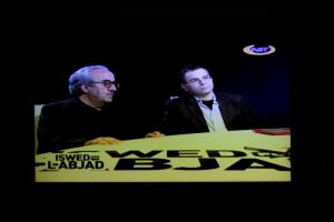 Darrin Zammit Lupi and Professor Joe Friggieri during a TV program on NET TV on January 11, 2014