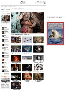 Special issue of Time Magazine dedicated to best images of 2013. Online version, December 19, 2013